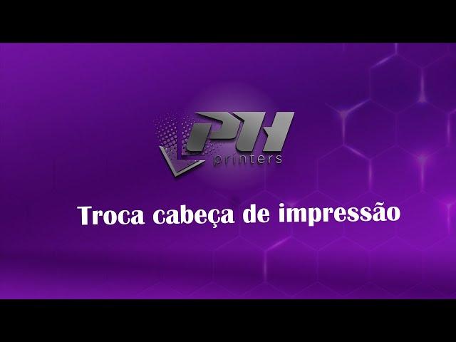 Troca cabeça de impressão máquinas com dois leds