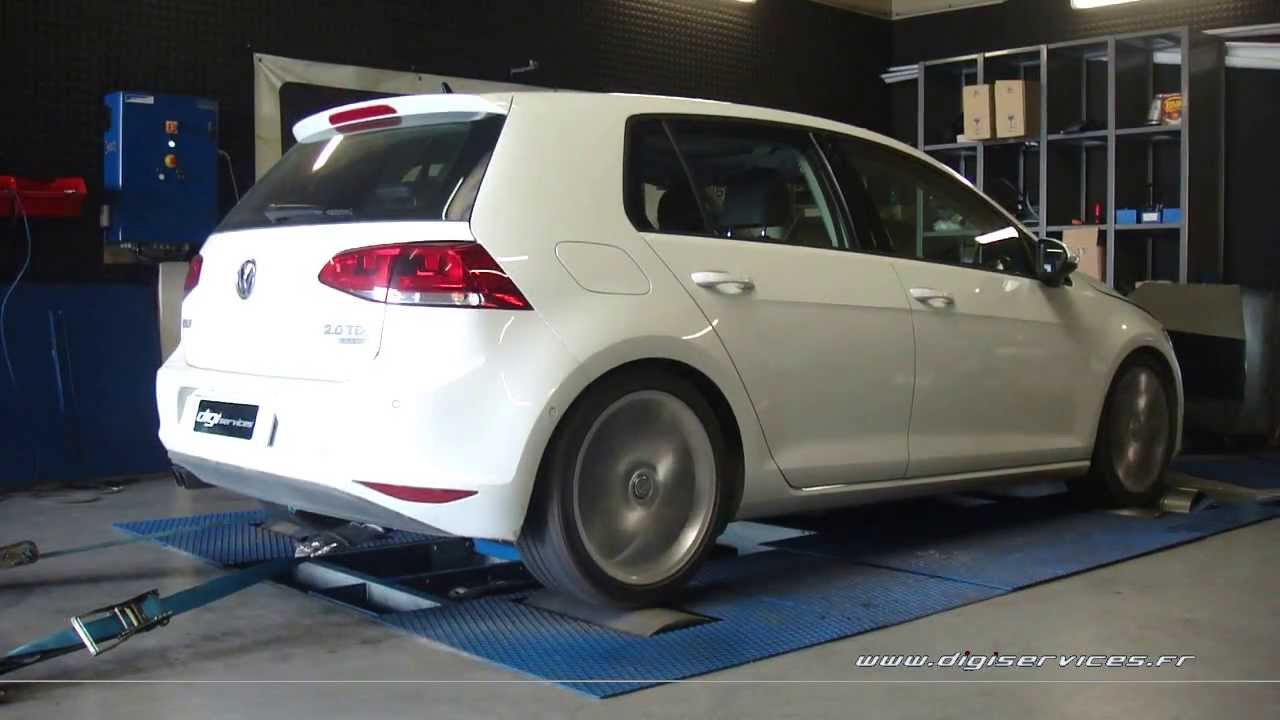 reprogrammation moteur vw golf 7 2 0 tdi 150cv 181cv digiservices paris dyno youtube. Black Bedroom Furniture Sets. Home Design Ideas