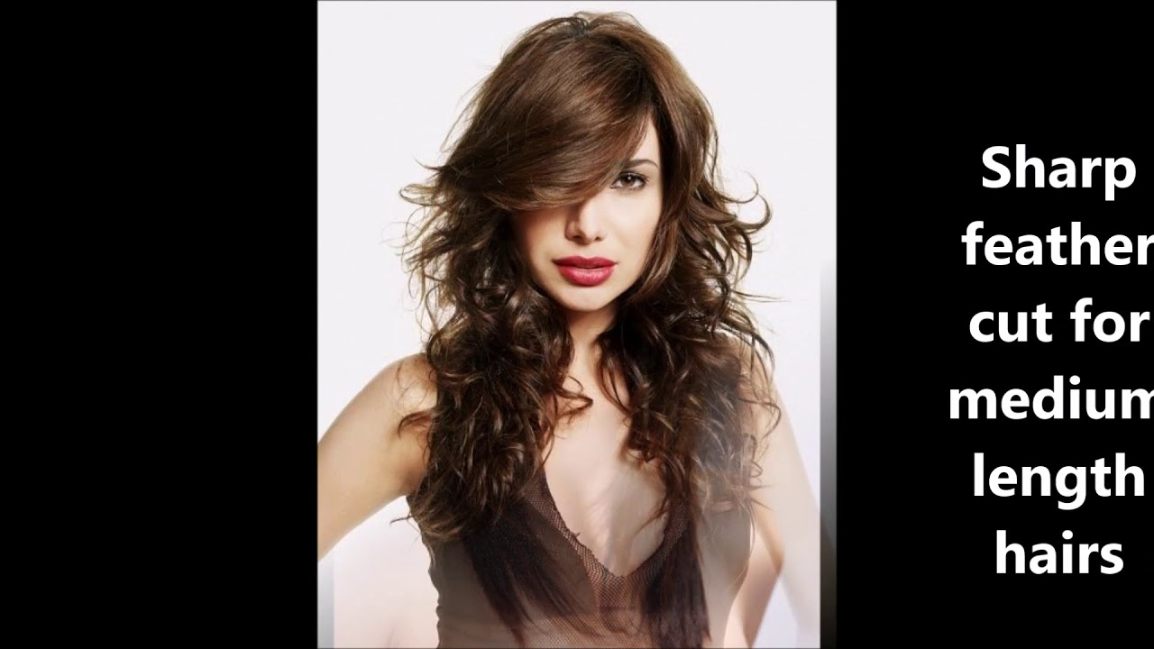 feather cut hairstyles for medium hrais   haircuts name with pics  best haircuts for women
