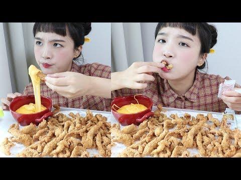 KFC 신메뉴 닭껍질튀김 먹방 _ 두시간 기다린 소중한 내 치킨 :D