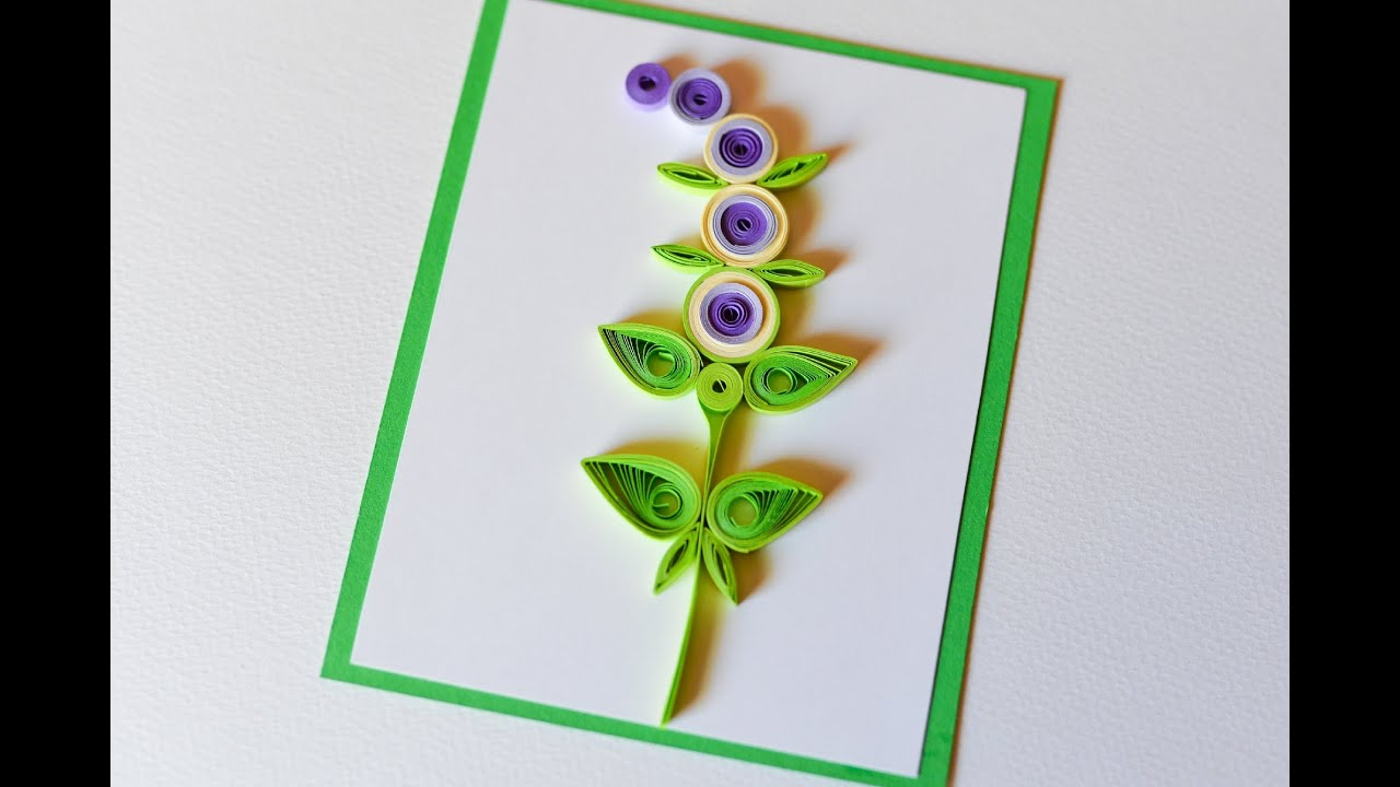 How to make greeting card quilling flower step by step kartka how to make greeting card quilling flower step by step kartka okolicznociowa youtube kristyandbryce Choice Image