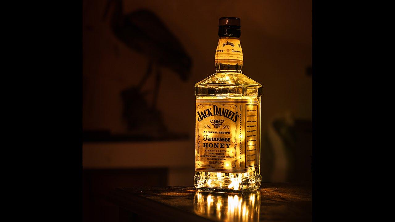 Jack Daniel S Honey 50 Led Portable Bottle Lamp Warm White Youtube