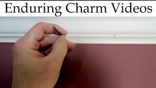 Install Crown Moulding Without A Helper!