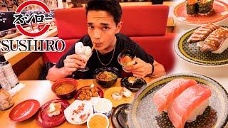 SUSHIRO CONVEYOR BELT SUSHI in Tokyo Japan // WHATS GOOD TO EAT??