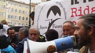 Roma, la manifestazione dei terremotati del Centro Italia