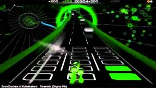 Freestailo Original Mix With Lyrics Game  Audiosurf