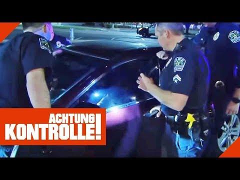 Festnahme! Volltrunken im Drive-In eingepennt! US-Polizei greift durch!   Achtung Kontrolle