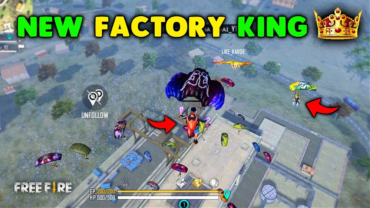 Ajjubhai New FACTORY KING 👑 Only Factory Roof Fist Challenge - Garena Free Fire