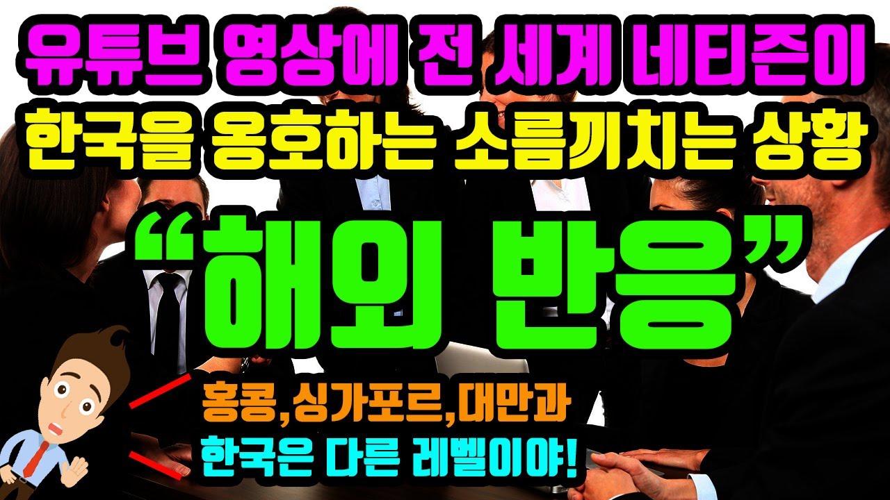 (해외반응) 유튜브 영상에서 홍콩,싱가포르,대만과 한국을 동일시 하자 전 세계 네티즌이 한국을 옹호하는 소름끼치는 해외 네티즌 반응