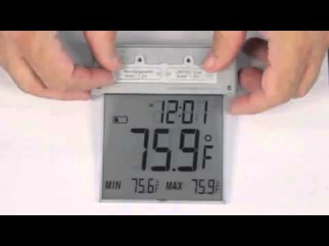 306-605 Large Window Thermometer with Solar Powered Backlight