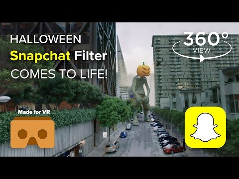 Pumpkin Zombie Snapchat Filter COMES TO LIFE! - Happy Halloween 2017 - VR 360 Degree Video