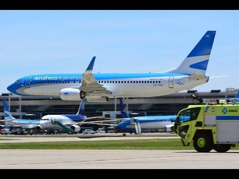 RASANTE! AEROLÍNEAS ARGENTINAS LV-FUC BOEING 737-8HS(WL) en Aeroparque Jorge Newbery