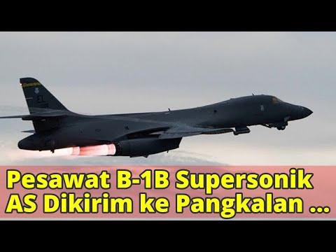 Pesawat B-1B Supersonik AS Dikirim ke Pangkalan Al-Udeid Qatar