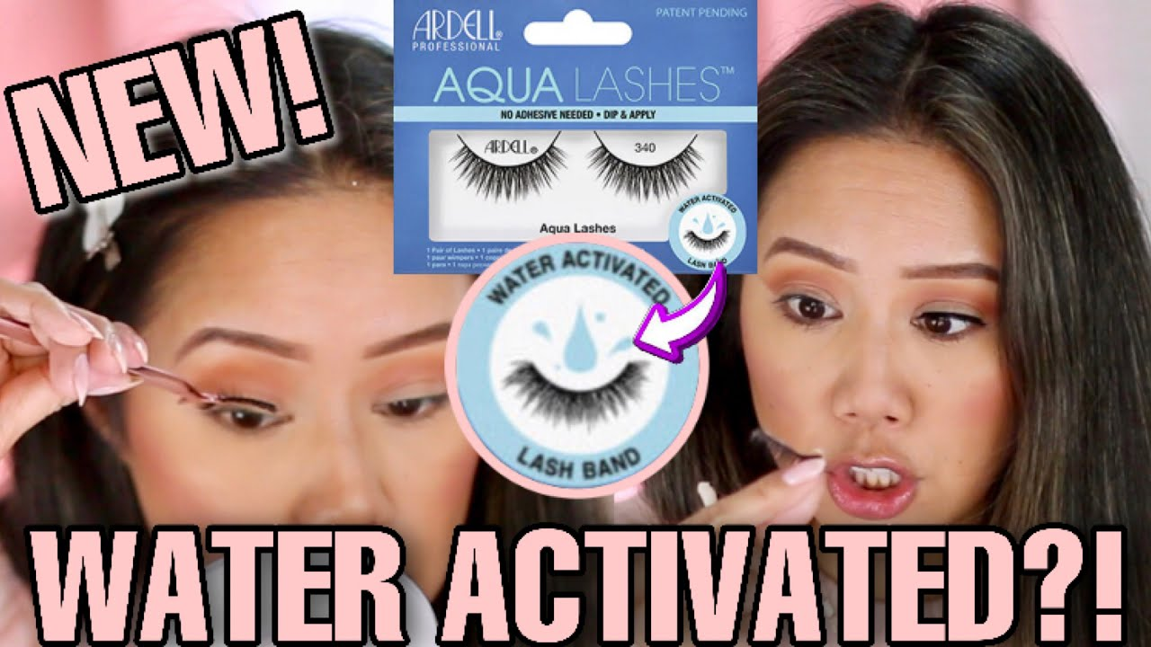 ARDELL AQUA LASHES REVIEW & HOW TO APPLY ARE THEY REUSABLE NEW ARDELL  AQUA LASHES REVIEW & DEMO