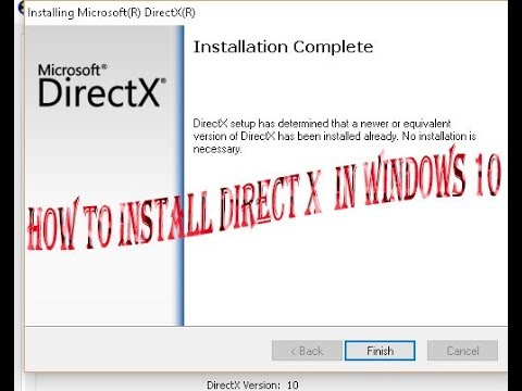 How to install DirectX in windows 10 easy way - YouTube