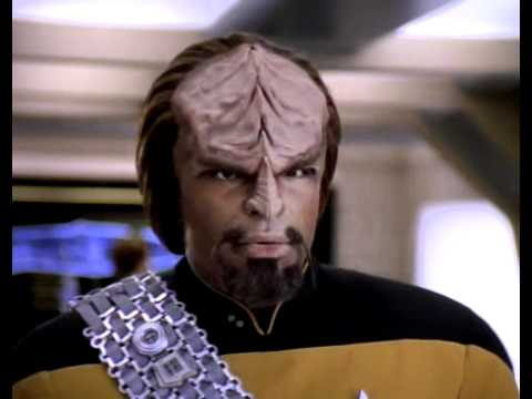 Lieutenant Worf, Klingon from Star Trek the Next Generation. Not part of the recipe for the dessert named Clingons :)