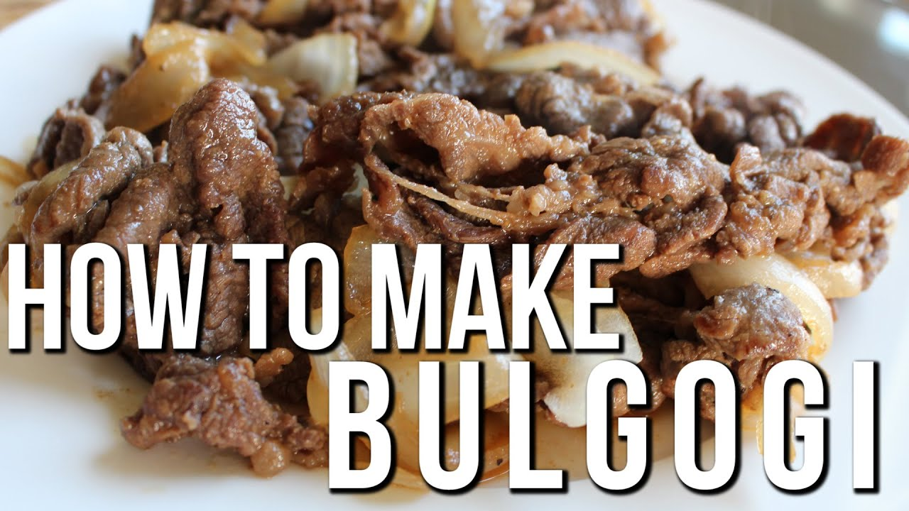 Korean bbq recipe bulgogi marinated thinly sliced beef youtube forumfinder Images