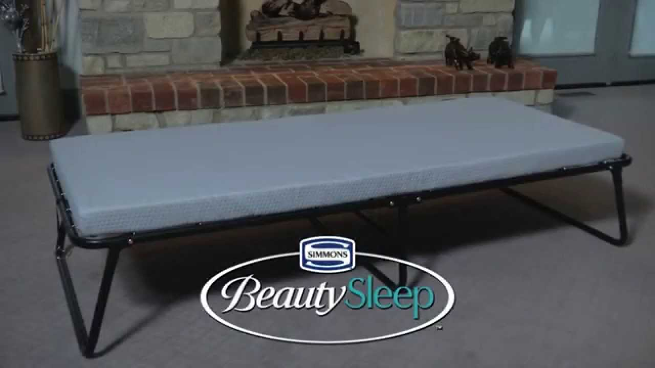 beautysleep portable guest bed single size - youtube