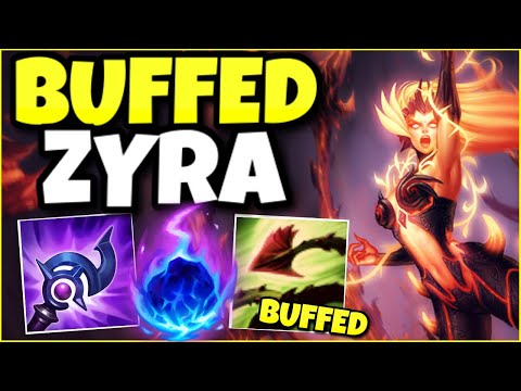 RIOT FINALLY BUFFED ZYRA… AND NOW SHE'S AN UNSTOPPABLE SUPPORT! – League of Legends