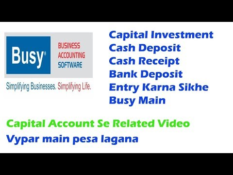 Capital Account Cash Deposit Cash Investment Bank Deposit