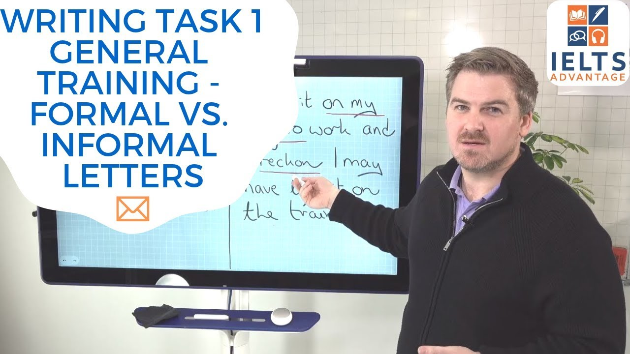 IELTS Writing Task 1 General Training - Formal Vs  Informal Letters