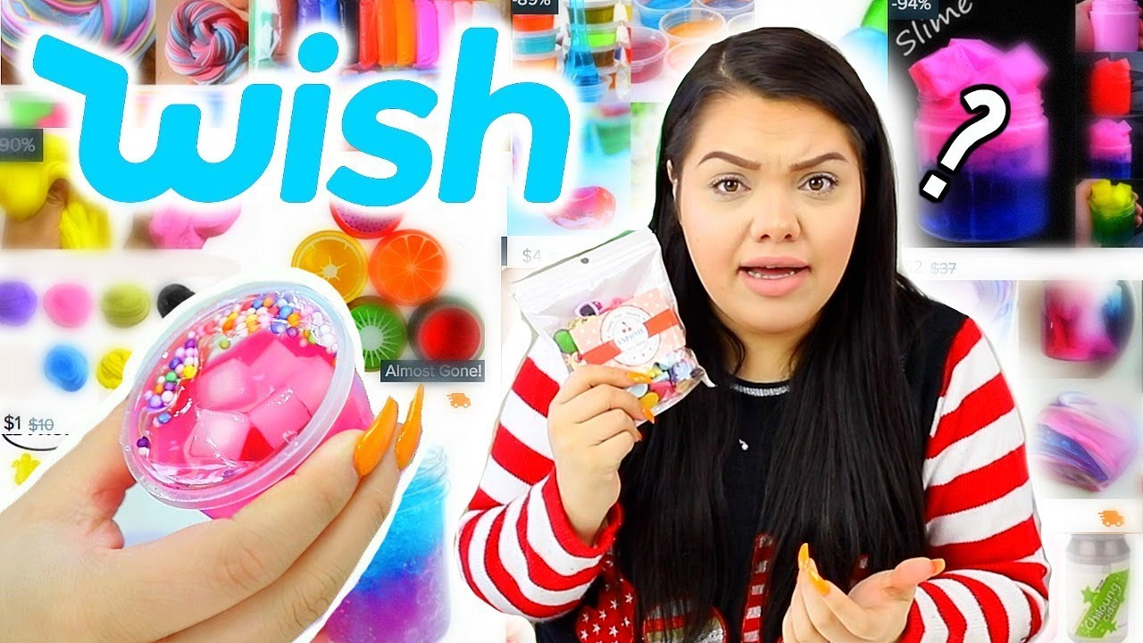 testing Slime products I bought on Wish.... Haul?