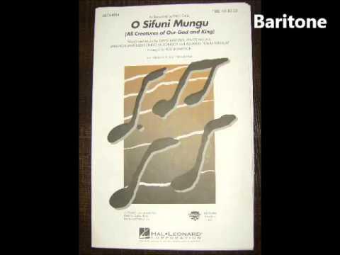 O Sifuni Mungu TTBB Baritone