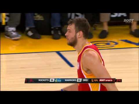 Donatas Motiejunas fakes out Marreese Speights