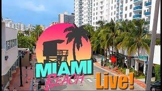 South Beach, Miami Beach, Florida USA - Live Stream 247 Quad HD 1440p
