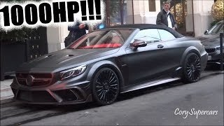 Supercars in Paris (MANSORY Mercedes S63 cabrio, Huayra Pearl, Aventador 50th)