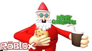 Roblox: FUJA DO PAPAI NOEL GIGANTE !! - (Who Kill Santa Obby)