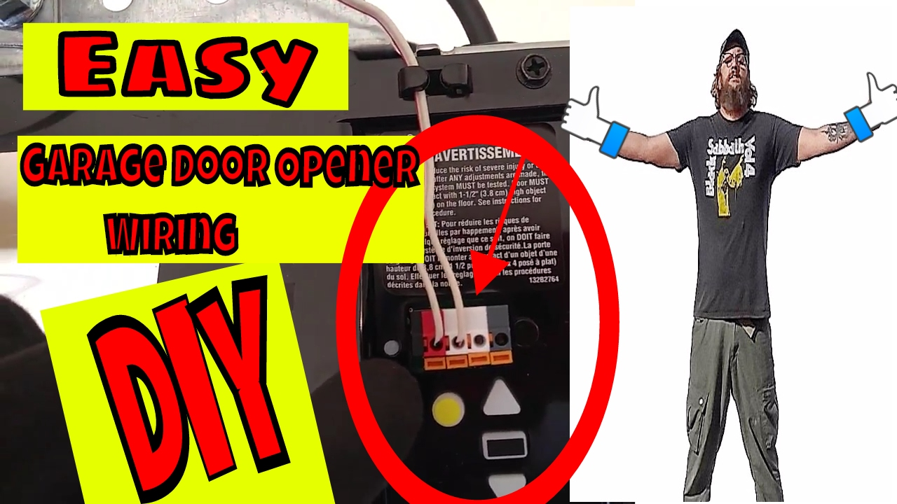 how to adjust garage door openerWiring A Chamberlain Garage Door Opener  YouTube