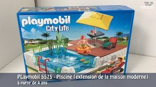 playmobil 5575 la piscine extension de la maison moderne
