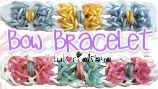 NEW Bow Bracelet Rainbow Loom Tutorial   How To