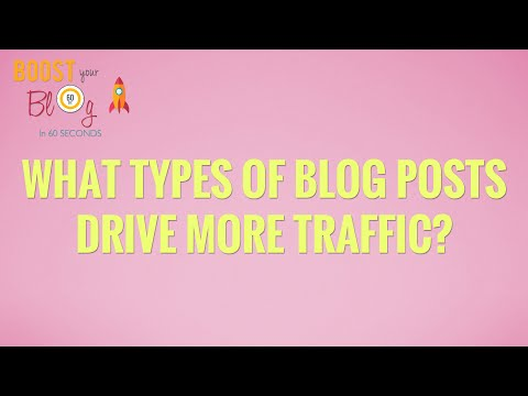 What types of blog posts drive more traffic?
