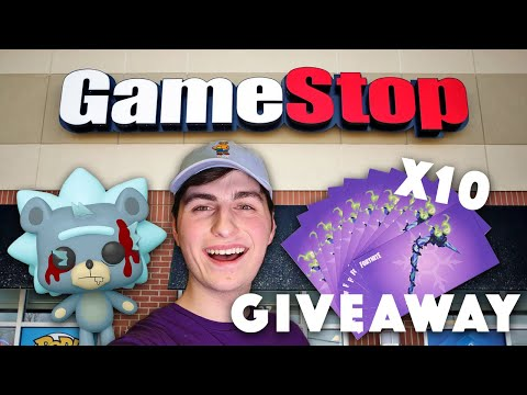 GameStop Funko Pop Hunting | x10 Fortnite Merry Mint Axe Codes Giveaway!