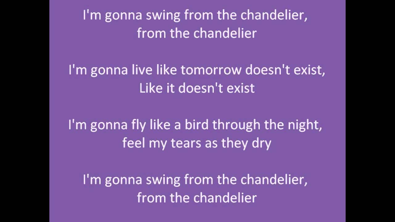 Parole : Sia - Chandelier - YouTube