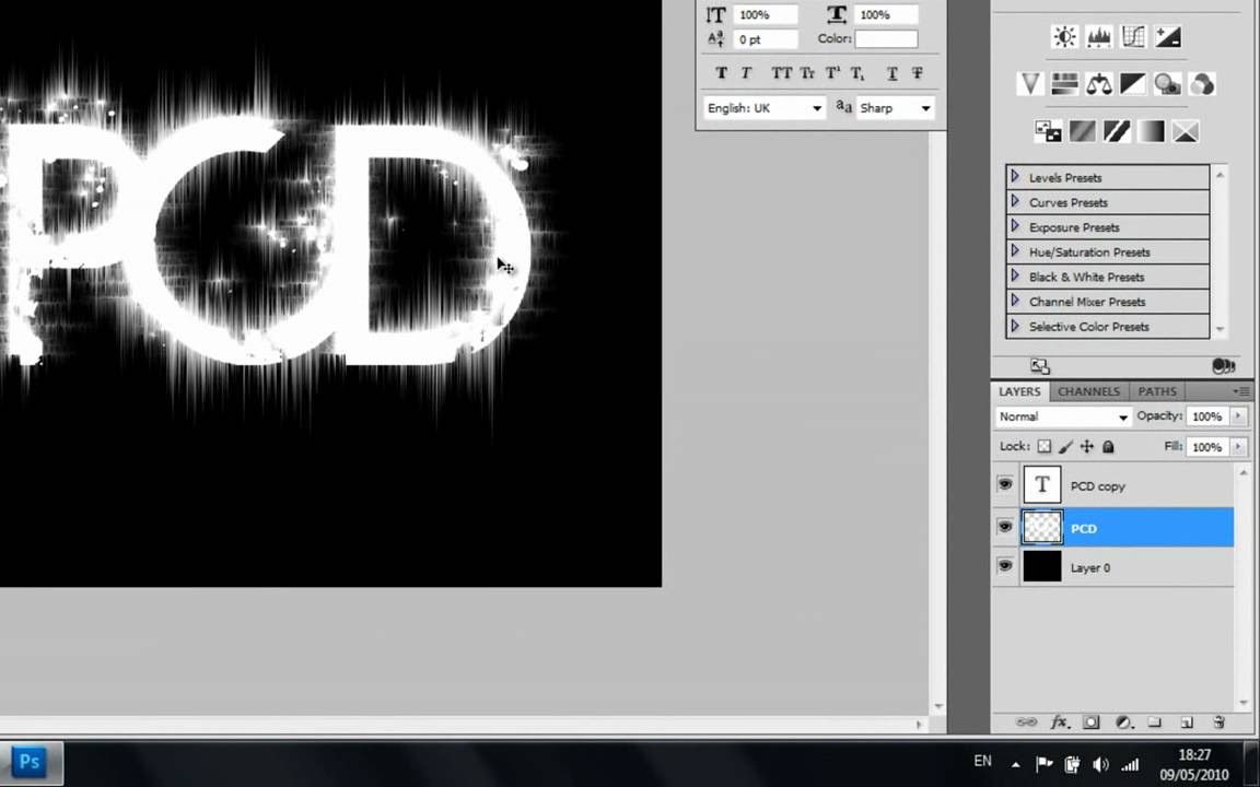 how to change text in photoshop cs5