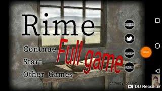 Rime Escape Game Full part Walkthrough