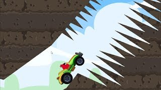 Angry Birds Cross Country - RACING GREEN CAR STUNT GRAND PRIX FULL LEVELS!