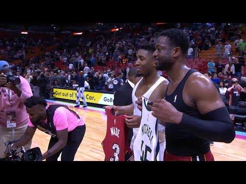 Dwyane Wade & Donovan Mitchell Trade Jerseys After Game - Jazz vs Heat | December 2, 2018