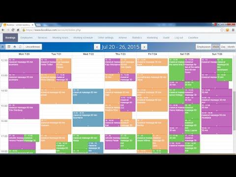 Online booking system for website
