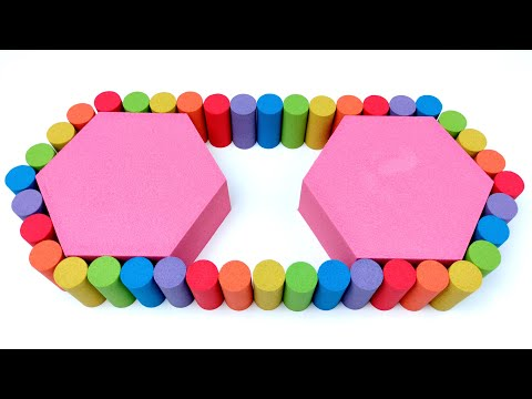 Satisfying Video - How to make Rainbow Bicycle Chain with Kinetic Sand Cutting ASMR #2 Sand Town thumbnail