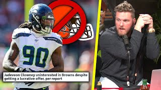 "Pat McAfee Reacts To Jadeveon Clowney ""Turning Down Big Offer From Browns"" Report"