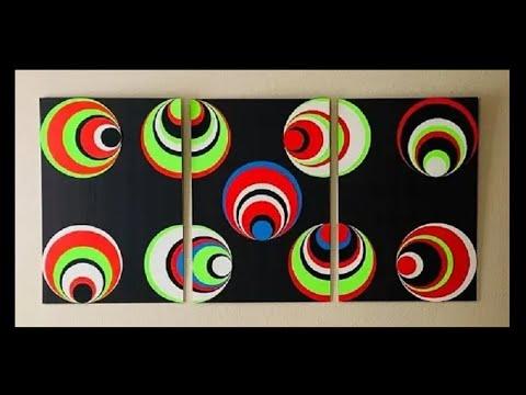 DIY: Optical Illusion Canvas Wall Art Decor
