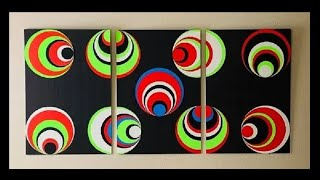 DIY: Optical Illusion Canvas Wall Art Decor