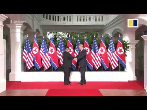 Trump-Kim summit: two leaders meet for first time in Singapore