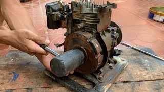 Restoration Old Rusty Gasoline Water Pump 1.5 Inch   Restore 4-stroke Rato Engine