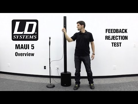 LD Systems Maui 5 Overview w Feedback Test