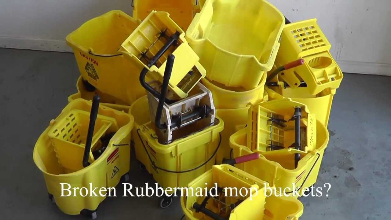 Rubbermaid Mop Bucket Repair Options Youtube
